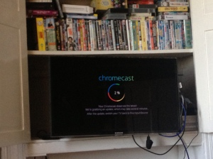 Chromecast on the TV downloading updates