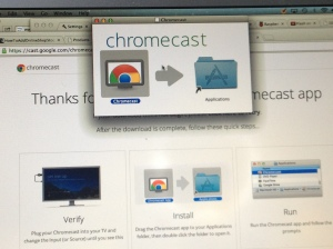 Mac OS X screenshot of Chromecast installation app