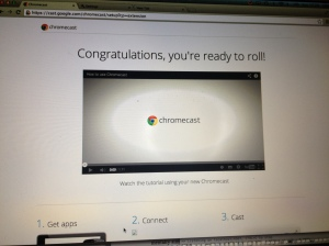 Chromecast how-to video