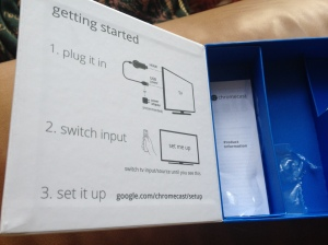 Chromecast box - instructions