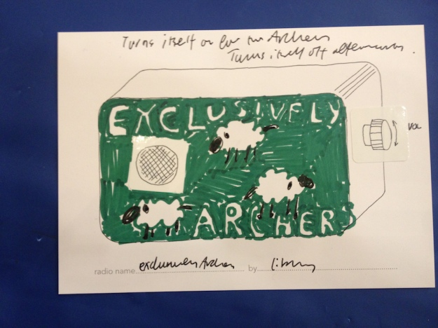 exclusively archers postcard